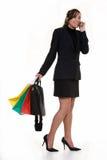 El hacer compras después de trabajo Imagen de archivo