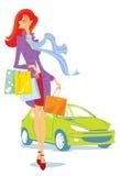 El hacer compras. Ejemplo del vector. Fotografía de archivo libre de regalías