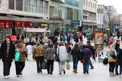 El hacer compras en Birmingham Foto de archivo libre de regalías