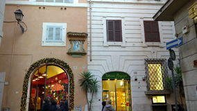 El hacer compras en Campo Marzio Street almacen de video