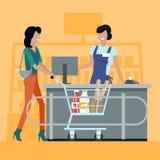 El hacer compras en el ejemplo del vector del colmado ilustración del vector