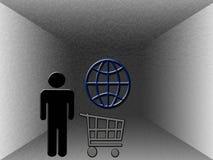 El hacer compras en el Web Fotografía de archivo libre de regalías