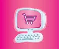 El hacer compras en línea   Foto de archivo