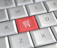 El hacer compras en línea Fotografía de archivo libre de regalías