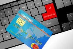 El hacer compras en línea Imagen de archivo libre de regalías