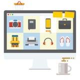 El hacer compras en línea Imagenes de archivo