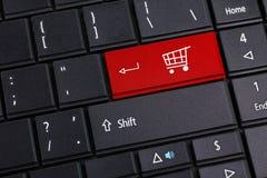 El hacer compras en línea Fotografía de archivo