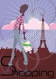 El hacer compras en París Foto de archivo libre de regalías