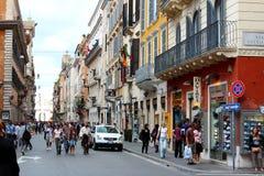 El hacer compras en Roma Fotos de archivo libres de regalías