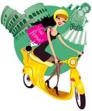 El hacer compras en Roma ilustración del vector
