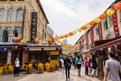 El hacer compras en Singapur Chinatown Imagen de archivo libre de regalías