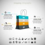 El hacer compras infographic Fotografía de archivo