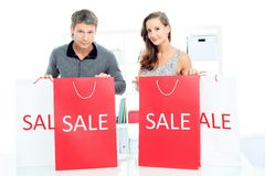 El hacer compras junto Imagen de archivo libre de regalías