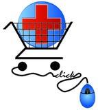El hacer compras para el cuidado médico ilustración del vector