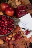 El hacer compras para el día de la acción de gracias Fotos de archivo libres de regalías