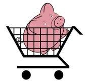 El hacer compras para el dinero ilustración del vector