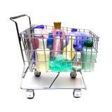 El hacer compras para los productos de belleza Foto de archivo libre de regalías