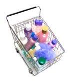 El hacer compras para los productos de belleza Fotos de archivo libres de regalías