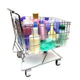 El hacer compras para los productos de belleza Imágenes de archivo libres de regalías