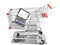 El hacer compras para una computadora portátil Imágenes de archivo libres de regalías