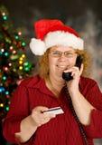 El hacer compras por el teléfono Fotos de archivo libres de regalías
