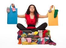 El hacer compras vuelve a vivir Imágenes de archivo libres de regalías