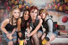 El hacer el tonto diverso del grupo Fotografía de archivo libre de regalías