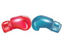 El hacer frente de dos guantes de boxeo Imagen de archivo libre de regalías