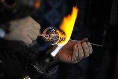 El hacer a mano de cristal Imagen de archivo libre de regalías