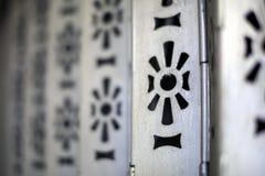 El hacer a mano en la puerta de aluminio Imágenes de archivo libres de regalías