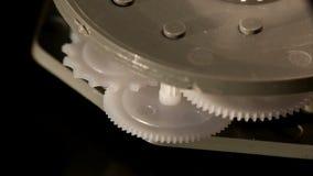 El hacer tictac mecánico del contador de tiempo almacen de video