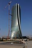 El Hadid Tover bajo construcción en Citylife; Milán Fotos de archivo
