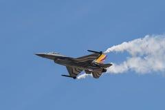 El halcón de la lucha del F-16 de General Dynamics es un avión de combate multiusos de jet desarrollado originalmente por General fotografía de archivo libre de regalías