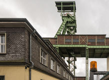 El headframe de la mina Jorge en Willroth, Alemania imágenes de archivo libres de regalías