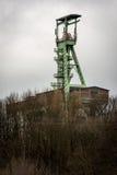 El headframe de la mina Jorge en Willroth, Alemania Imagenes de archivo