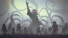 El hechicero de los undead que echa un encanto libre illustration