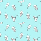 El helado bebe el modelo inconsútil del vector azul del fondo libre illustration