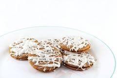El helar de Ginger Snaps With White Chocolate Fotografía de archivo