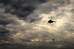 El helicóptero Fotografía de archivo libre de regalías