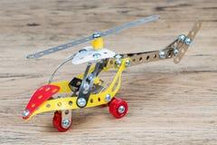 El helicóptero del metal del juguete Fotos de archivo