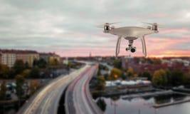 El helicóptero del patio del abejón registró tráfico en la zona metropolitana imagen de archivo