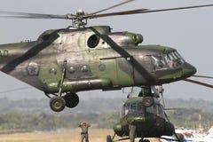 El helicóptero militar de Indonesia Foto de archivo