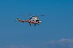 El helicóptero W-3WA Sokol del presidente polaco Fotos de archivo