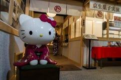 El Hello Kitty en kimono Imágenes de archivo libres de regalías