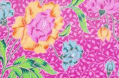 El hermoso del modelo del batik del arte Imagen de archivo