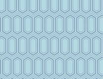 El hexágono isométrico inconsútil teja en la línea en Tone Creating Depth azul, profundidad, perspectiva Imprimible creativo ilustración del vector