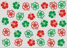 El hibisco de la Navidad florece el fondo del papel pintado ilustración del vector