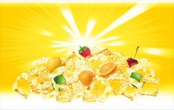 El hielo anaranjado da fruto colina Fotos de archivo libres de regalías
