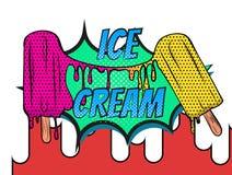 El hielo hace estallar el cartel de fusión libre illustration
