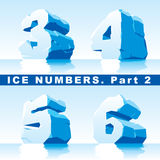 El hielo numera la parte 2 Imagenes de archivo